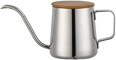 Tongke Pour Over Kettle, Stainless Steel Handheld Long Narrow Spout Gooseneck Spout Kettle Coffee Drip Pot with Bamboo...