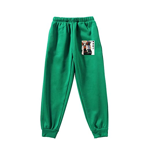Syogo Pantalones Deportivos My Hero Academia greenPantaloni Della Tuta Pantaloni Della Tuta Anime Uomo e Donna Abbigliamento Sportivo Casual Unisex Anime-XXL