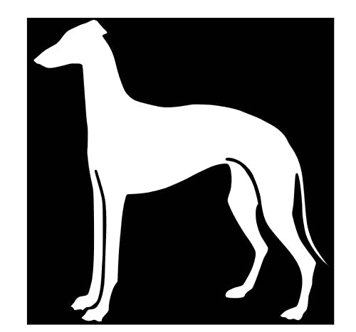 MDGCYDR Pegatinas Coche Perro 15 X 15 Cm Perro Galgo Pegatina para Coche Accesorios De Coches De Moda Pegatinas Decorativas para Parachoques De Cuerpo De Dibujos Animados Pegatina Impermeable para Ar