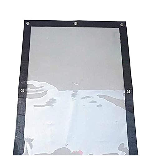 HAI RONG Lona transparente de plástico transparente resistente al agua lona ligera para mercancías toldo de coche impermeable toldo de plástico grueso, 27 tamaños lona premium