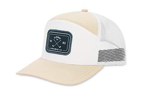 Callaway Golf 6 Panel Trucker Hat, Khaki/White