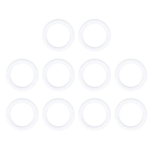 STOBOK 10 stücke Handwerk Schaum Kranz polystyrol styropor Schaum Ringe Thanksgiving Weihnachten DIY Ornament Handwerk blumenarrangements liefert (14 5x2 5 cm)