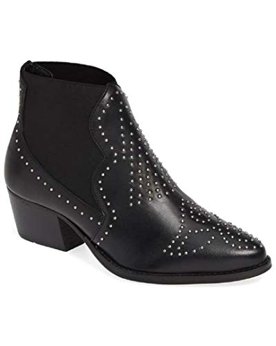 Price comparison product image Charles by Charles David Women's Zach Studded Bootie Black Leather 9.5 M US