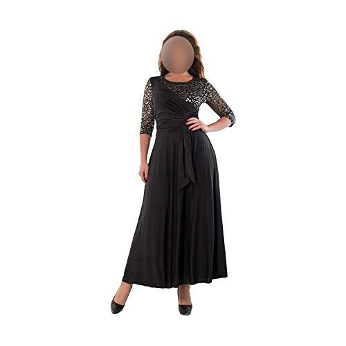 Long Dress Maxi Spring Summer Big Size Lace Patchwork Dress Sexy Party Dress,02,XXXL