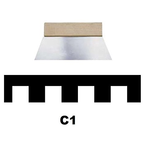 Leim Klebstoff Zahnspachtel Bodenleger Normalstahl C1 4x4mm gezahnt 250mm