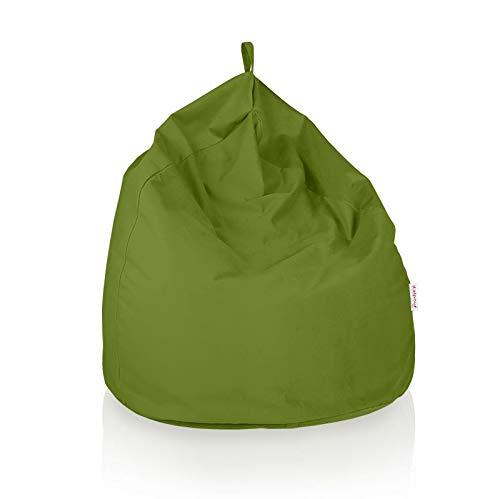 Italpouf Pouf Sacco Gigante XXL Poltrona Sacco Morbido Tessuto Velluto 100 Ø x 130 cm Pouf A Sacco Sfoderabile! Puff Imbottito! Puf Tessuto Peluche 14 Colori! (Pouf Sacco XXL, Verde)
