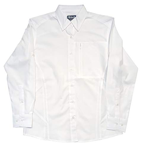 Bimini Bay OUTFITTERS Clearwater Long Sleeve Women's Shirt (White, X-Large)