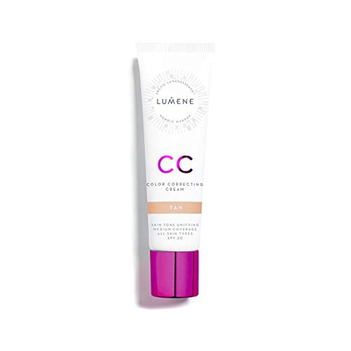 Lumene CC Color Correcting Cream - Tan - infused with Pure Arctic Spring Water - 6 in 1 Medium Coverage for all Skin Types SPF 20-30 ml / 1.0 Fl.Oz.