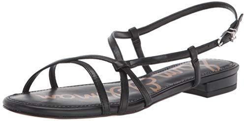 Sam Edelman womens Teale Flat Sandal Black 9.5 M