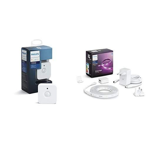 Philips Hue Lightstrip Tira Inteligente LED 2m, con Bluetooth + Sensor de Movimiento, Enciende las Luces con Detección de Presencia
