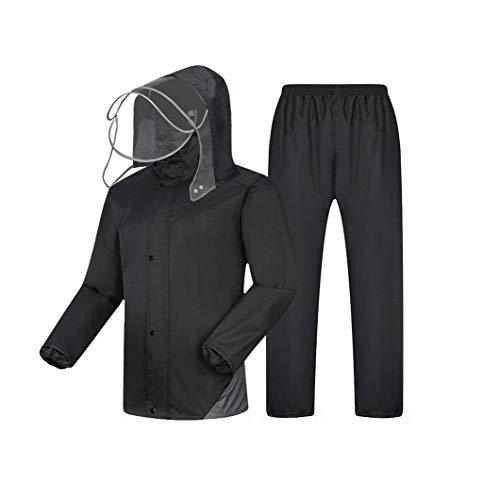 HX fashion Los Pantalones De Lluvia para Montar A Caballo Tamaños Cómodos para Adultos Y Adultos De Single Split Se Pueden Repetir Ropa (Color : Negro, Size : 3XL)