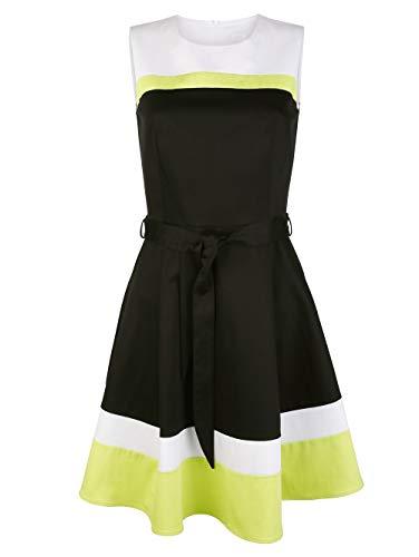 Alba Moda Damen Kleid Schwarz 42 Baumwolle