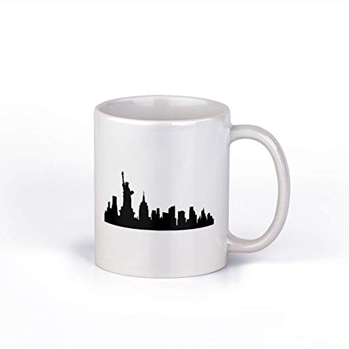 Taza de café de cerámica del Horizonte de New York City   Taza de café de Nueva York   Taza de café   Idea única   DD008