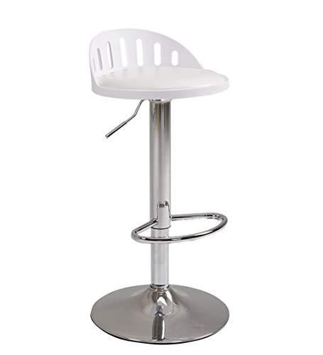HWH Tourner Tabouret de dossier, chaise de bar Art de fer Télésiège Ménage salon de coiffure restaurant Café Tabouret haut 60-80CM Divers (Couleur : G)