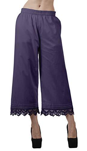 Moomaya Longitud del Tobillo De Los Pantalones Palazzo del Color Sólido del Cordón para Las Mujeres Las Partes Inferiores De Las Piernas Amplia HP