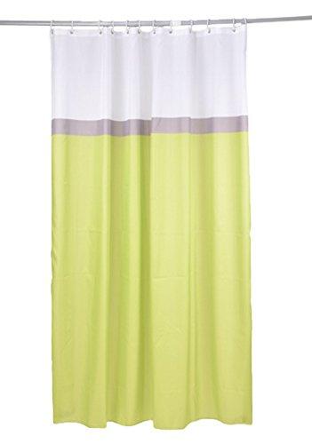 douceur d'interieur Rideau DE Douche Textile 180x200CM 3 Couleurs - Motif UNI, 100% Polyester, Vert