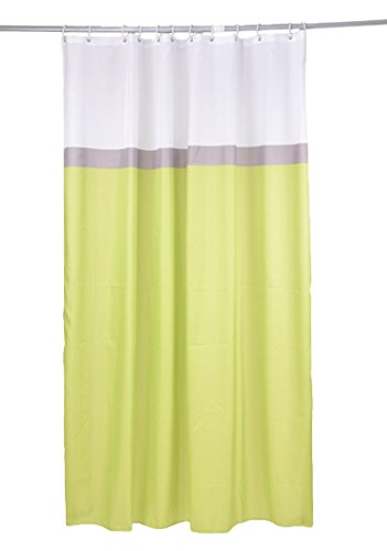 Ushuaia Rideau DE Douche Textile 180x200CM 3 Couleurs - Motif UNI, 100% Polyester, Vert