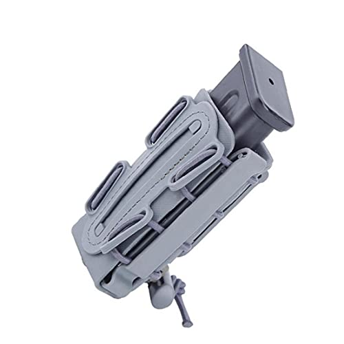 Kits De Caza Al Aire Libre, Portátil 9mm Pistola Bolsa De La Revista Tactical Airsoft Carrier Equipo De Caza Al Aire Libre Titular Gris 1pc