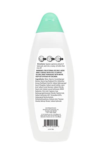 Amazon Brand - Solimo Body Wash for Sensitive Skin, 22 Fluid Ounce