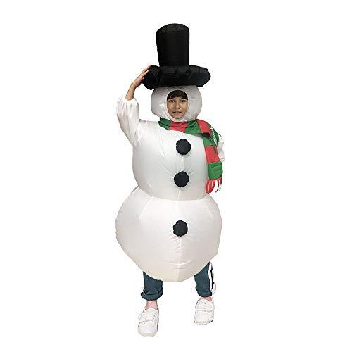 JJAIR Kinder Weihnachten Aufblasbare Schneemann-Kostüm, Partei-Abendkleid Bluse Overall