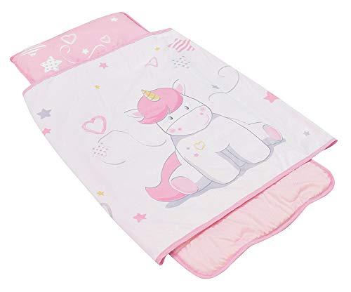 Fun House 713180 - Tappeto per sedere/sacco a pelo, in poliestere, rosa, dimensioni: 55 x 121 cm