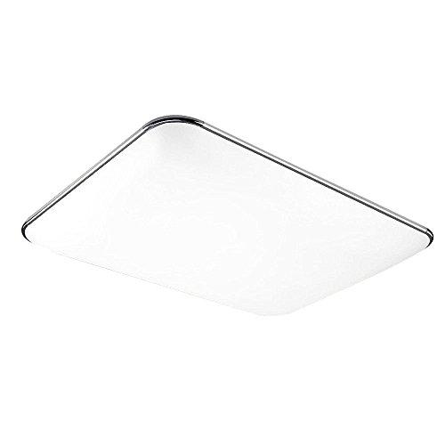 SAILUN 96W ultra sottile bianca freddo plafoniera moderno lampada da soffitto per soggiorno, cucina, camera, bagno, hotel - Argento