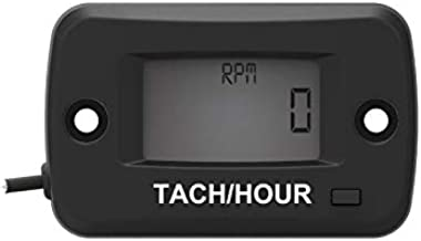 Runleader Digital Lcd Gasoline Tach/Hour Meter Chainsaw Hour Meter Motorcycle Tachometer for Paramotors Microlights Marine Engines - Inboards and Outboards Pumps Generators Mower Model Boats