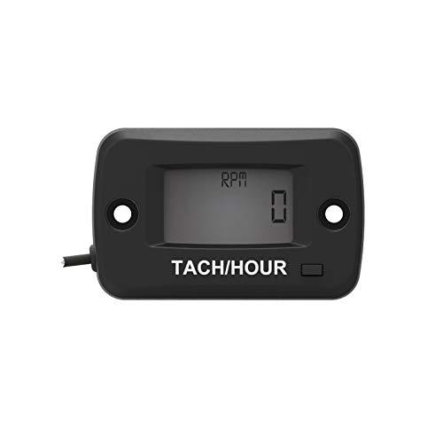 Runleader Digital LCD Benzin Drehzahl- / Betriebsstundenzähler Kettensägen-Betriebsstundenzähler Motorrad-Drehzahlmesser für Paramotoren, Ultraleichtflugzeuge
