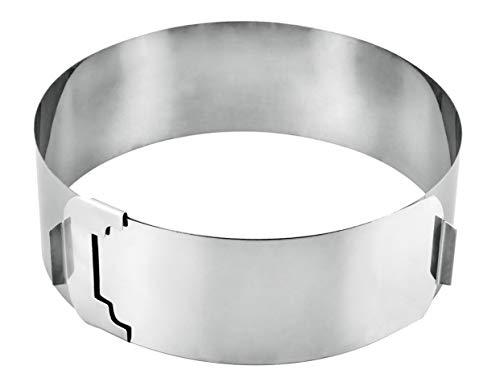 Metaltex 257715 - Aro-molde para tarta de acero inoxidable ajustable 15/30 centímetros