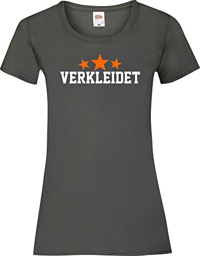 Shirtinstyle - Disfraz de Lady-Shirt para disfraz de carnaval gris XS