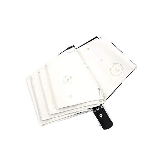 DZNOY Paraguas Plegables de sombrilla de Sol y Sol protección Solar protección Ultravioleta Protección automática de Apertura y Cierre de Paraguas sombrilla (Color : White)