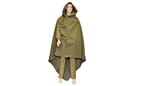 Sovietic Army Made in USSR Original Soviet Russian Army WWII Type Soldier Field Canvas Cloak Tent Raincoat Poncho by