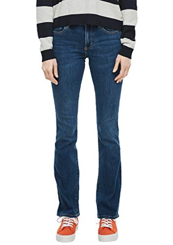 s.Oliver Damen Slim Fit: Bootcut leg-Denim dark blue sretched 38.32