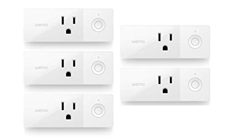 Wemo Mini Smart Plug, Wi-Fi Enabled, Compatible with Alexa and Google Home (F7C063-RM2) (5 pack )(Renewed)