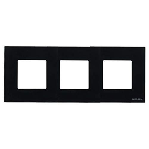 Niessen zenit - Marco 3 elementos serie zenit cristal negro