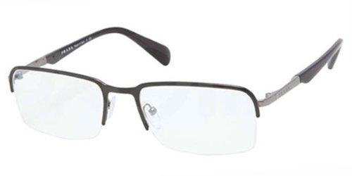 PRADA Montura gafas de ver PR 59QV FAR1O1 Top Negro Gunmetal 55MM