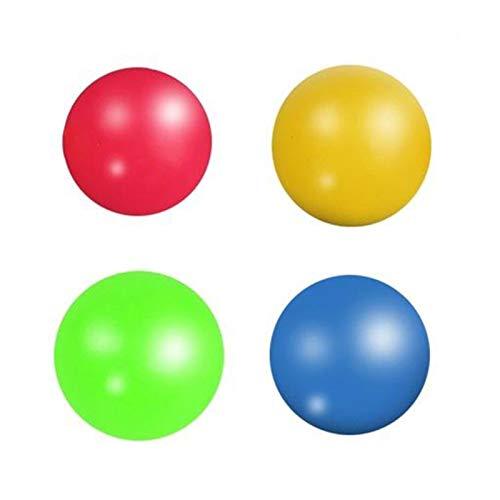 Leobtain Bolas de estrés para adultos y niños, juguete antiestrés, bola adhesiva para alivio del estrés, bola de squash pegajosa con succión