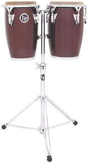Latin Percussion LP Jr Wood Conga Set - Wine Red/Chrome