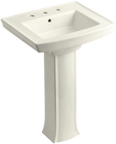 KOHLER K-2359-8-96 Archer Pedestal Bathroom Sink with 8