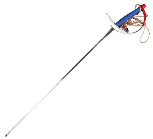 RAYJOY Arme de clôture électrique Sabre épée antirouille et Durable Lame élastique en Acier avec Cordon de Corps – # ‿5, Droite