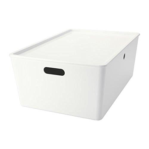 IKEA Kuggis Box mit Deckel weiß Größe 14 ½x21 ¼x8 ¼ 102.802.03