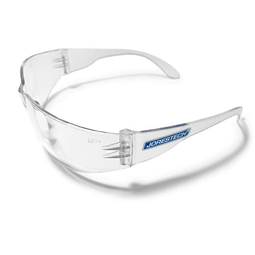 JORESTECH Eyewear Protective Safety Glasses, Polycarbonate Impact Resistant Lens 1 Pair (Clear)