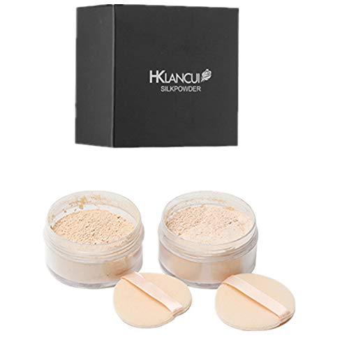 Maquillaje en polvos sueltos minerales control de aceite, larga duración, acabado sedoso, mate (translúcido) de Ruwhere (1#)