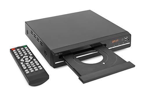 Reflexion DVD Player / CD-Player mit HDMI, USB und SCART, LCD-Display, Fernbedienung, schwarz & conecto HDMI Kabel HIGH Speed mit Ethernet (vergoldete Stecker, 4K, Ultra-HD, Full HD 1080p, 3D) 1,5m