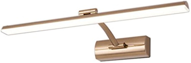 Spiegel Frontleuchte LED Wasserdicht Anti-Beschlag Toilette Badezimmer Modern Einfache Kommode Spiegel Lampen Toiletten Europische Energiesparlampen (Weies Licht) (gre   41cm 8W)