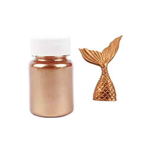 XIAOSHA (1 juego) 15 g de purpurina comestible en polvo de plata dorada para decoración de pasteles fondant y no tóxico, insípido, bronce
