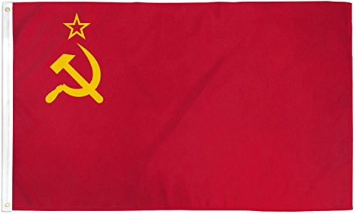 Home and Holiday Flags 3x5 USSR Flag Soviet Union Russian Communist Party Banner Communism Pennant
