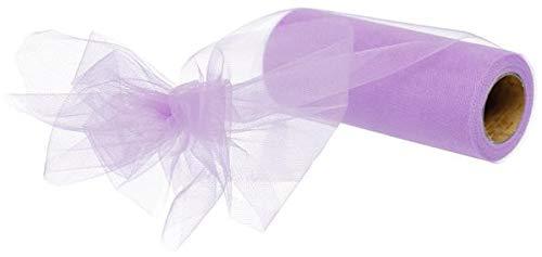 Tulle Ribbon Spool - 6' x 25 Yards - 75 Feet (Lavender)