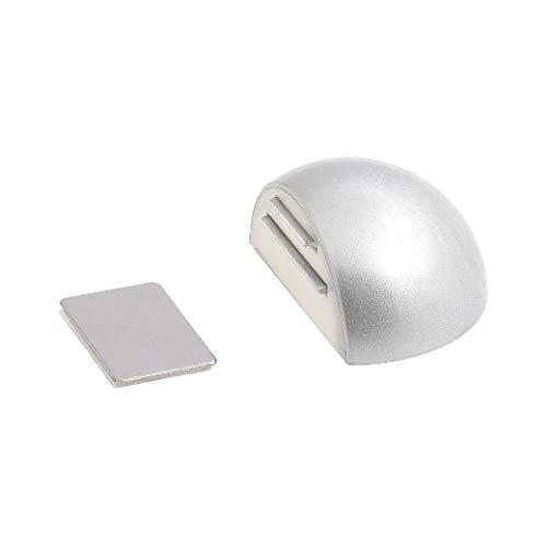 WOLFPACK 5320340Türstopper für Tür mit magnetischem Halter, selbstklebend, chromfarben matt