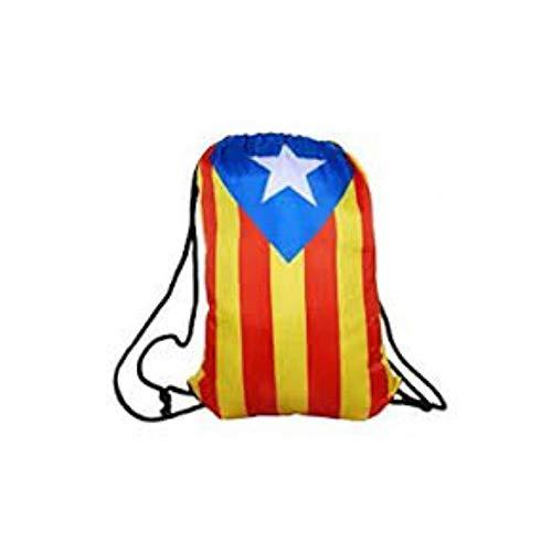 Mochila estelada catalana con cordones ajustable para poderla colgar -